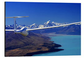 Aluminium print  Glider over a lake - David Wall