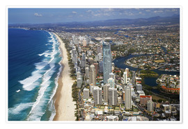 Premium poster  Surfer's Paradise from the air - David Wall