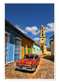 Premium poster  Old Chevy in Trinidad - Bill Bachmann
