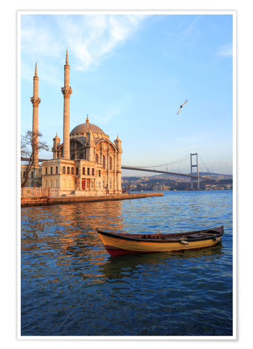 Premium poster Rowboat and Ortakoy Mosque