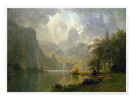 Premium poster  In the Mountains - Albert Bierstadt