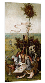 Foam board print  The ship of fools - Hieronymus Bosch