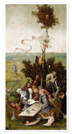 Premium poster  The ship of fools - Hieronymus Bosch