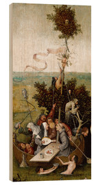 Wood print  The ship of fools - Hieronymus Bosch