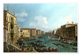 Premium poster  Regatta on the Canale Grande - Antonio Canaletto