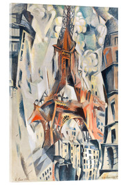 Acrylic print  The Eiffel Tower - Robert Delaunay