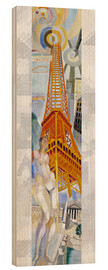 Wood print  The woman and the tower - Robert Delaunay