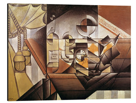 Aluminium print  Composition with clock - Juan Gris