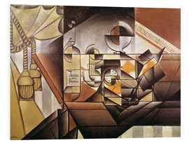 Foam board print  Composition with clock - Juan Gris
