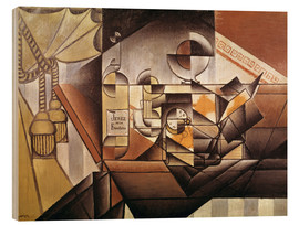 Wood print  Composition with clock - Juan Gris