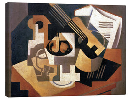 Canvas  Guitar and fruit bowl - Juan Gris