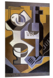 Foam board print  Still life with wine bottle - Juan Gris