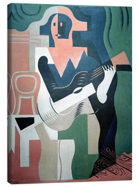 Canvas  Harlequin w.Guitar - Juan Gris