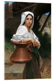 Acrylic print  Young Italian Girl at a well - William Adolphe Bouguereau