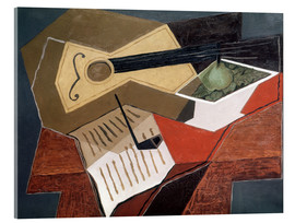 Acrylic print  Guitar and fruit bowl - Juan Gris