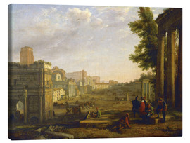 Canvas print  Aeneas in Delos - Claude Lorrain