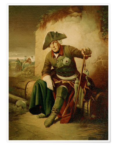 Premium poster Frederick the Great after the battle of Collin