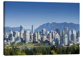 Canvas print  Skyline of Vancouver with mountains on the horizon - E. O. Reed