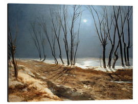 Aluminium print  Landscape in Winter at Moonlight - Carl Blechen