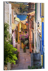 Aluminium print  Alley with colorful houses - Per Karlsson