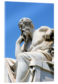 Acrylic print  Statue of the thinking Socrates - Prisma