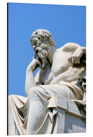 Aluminium print  Statue of the thinking Socrates - Prisma