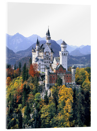 Acrylic glass  Neuschwanstein Castle in autumn - Ric Ergenbright