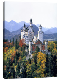 Canvas  Neuschwanstein Castle in autumn - Ric Ergenbright