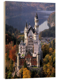 Wood print  Neuschwanstein and Alpsee in Bavaria, Germany - Ric Ergenbright