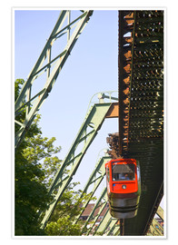 Premium poster  Wuppertal suspension railway - Walter Bibikow