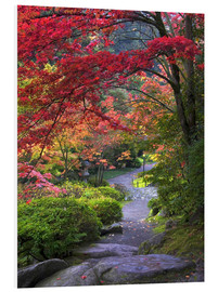 Foam board print  Path in a Japanese garden - Janell Davidson