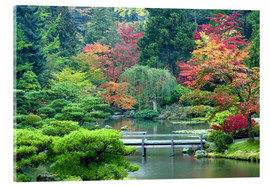 Acrylic print  Japanese Garden in Seattle - Janell Davidson