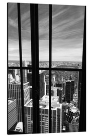 Aluminium print  Window view of Central Park - Buellom