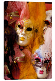 Canvas  Colourful carnival masks from Venice - Bill Bachmann