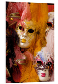 Foam board print  Colorful carnival masks - Bill Bachmann