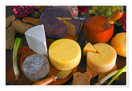 Premium poster Cheese plate in Tuscany