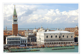 Premium poster  St. Mark's Square on the Grand Canal - Lynn Seldon