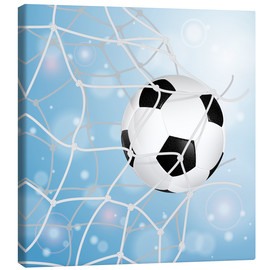 Canvas  Soccer Ball in Net - TAlex