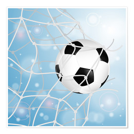 Premium poster Soccer Ball in Net