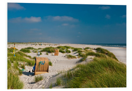 Foam board print  Amrum beach with dunes and marram grass - Reiner Würz