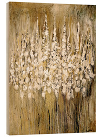 Wood print  flower abstract - Christin Lamade