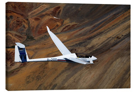 Canvas print  Glider in mountain landscape - David Wall