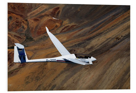 Foam board print  Glider in mountain landscape - David Wall