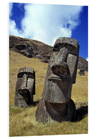 Foam board print  Moai on Easter Island - Ric Ergenbright