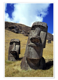 Premium poster  Moai on Easter Island - Ric Ergenbright