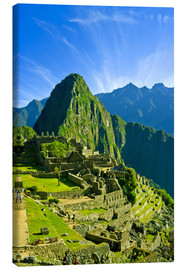 Canvas  Inca city of Machu Picchu - Jerry Ginsberg