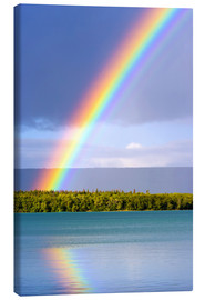 Canvas print  Rainbow on Lake Naknek - Jerry Ginsberg