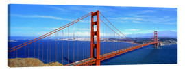 Canvas print  Golden Gate bridge from above - Ric Ergenbright