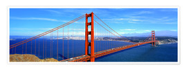 Premium poster Golden Gate bridge from above