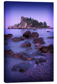 Canvas print  Sicily Taormina View of Isola Bella2 - Mayday74